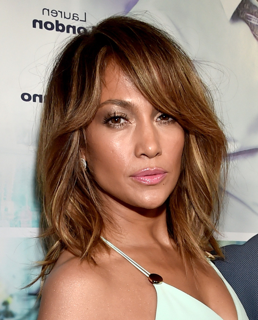 Jennifer Lopez Shoulder Length Hairstyles – Jennifer Lopez Hair Intended For Jennifer Lopez Short Haircuts (View 5 of 25)