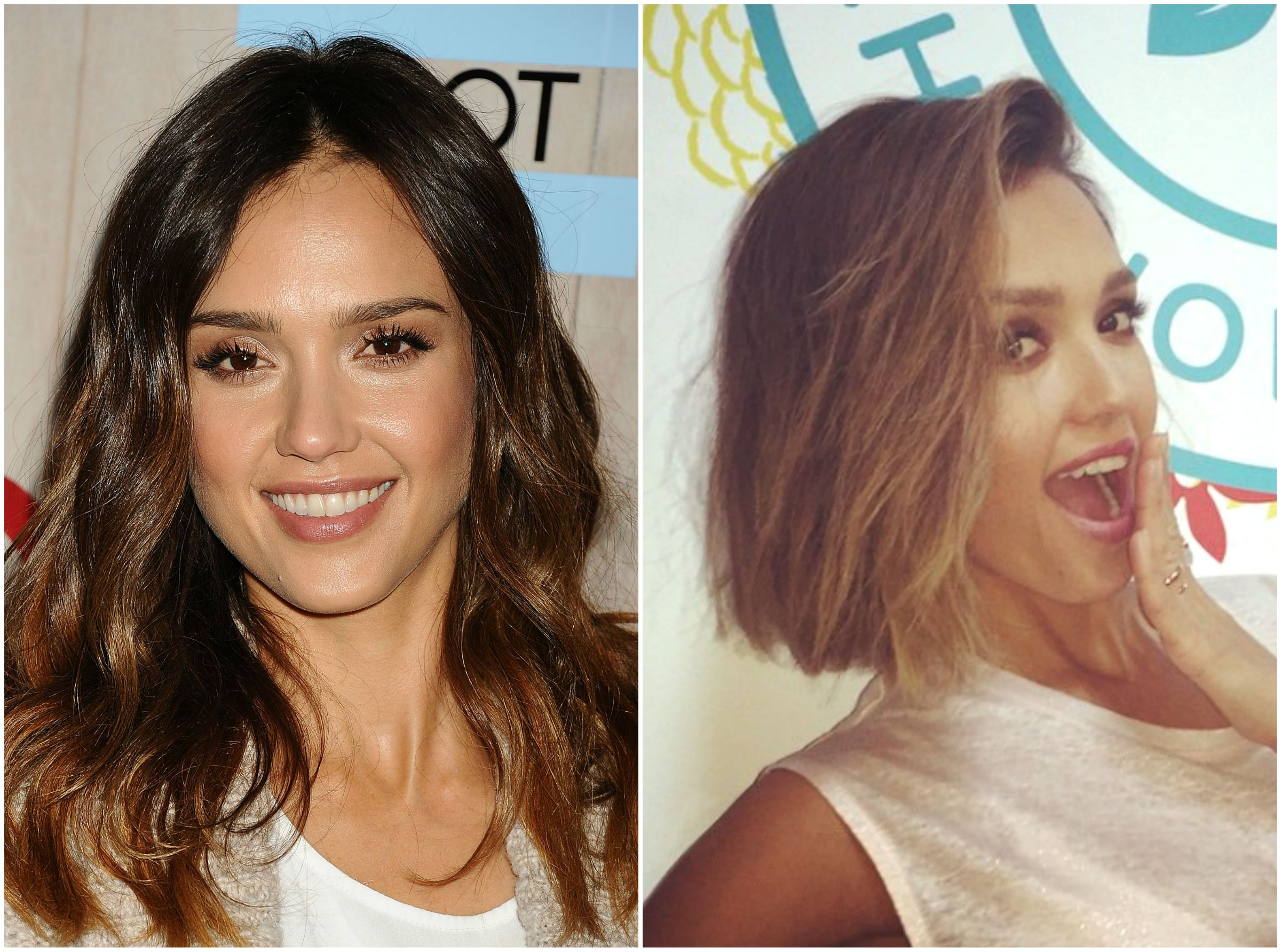 Jessica Alba Shows Off Her Flirty New 'do 30 - Life & Style intended for Jessica Alba Short Haircuts