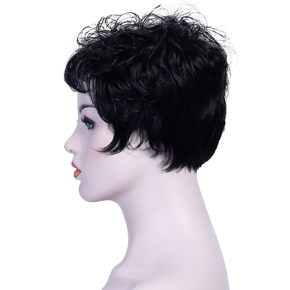 Jinkaili Wig Hot Pixie One Side Part Short Messy Kinky Curly with Short Messy Curly Hairstyles