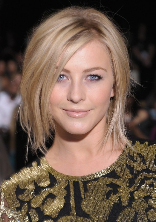 Julianne Hough Shoulder Length Bob Haircut For Straight Hair within Short-To-Medium Feminine Layered Haircuts