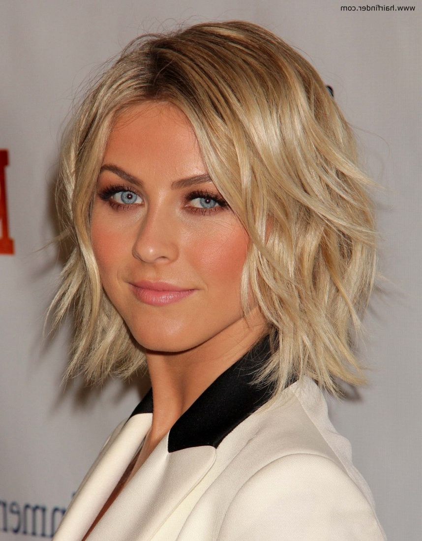 Julianne Hough Wearing Her Hair In A Curled Bob With Spice Pertaining To Posh Spice Short Hairstyles (View 4 of 25)