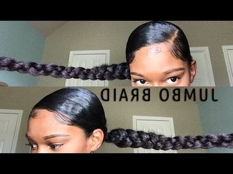 Jumbo Braid Ponytail With Kanekalon Hair In 2018 | Slayed&&layedddd With Beach Friendly Braided Ponytails (View 21 of 25)