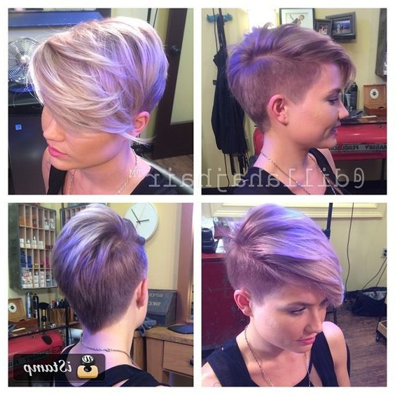 Justin Dillaha–Master Of Short Hair! Shaved Side, Pixie Cut, Long With Lavender Haircuts With Side Part (View 5 of 25)