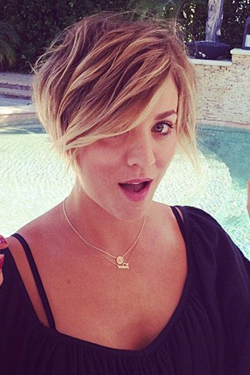 Kaley Cuoco Pixie Cut Hairstyle Photos | Glamour Uk Regarding Kaley Cuoco Short Hairstyles (View 11 of 25)