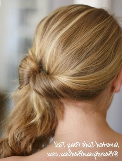 Kicking Off My 30 Days – 30 Ways Hair Challenge With Inverted Pony With Reverse Braid And Side Ponytail Hairstyles (View 21 of 25)