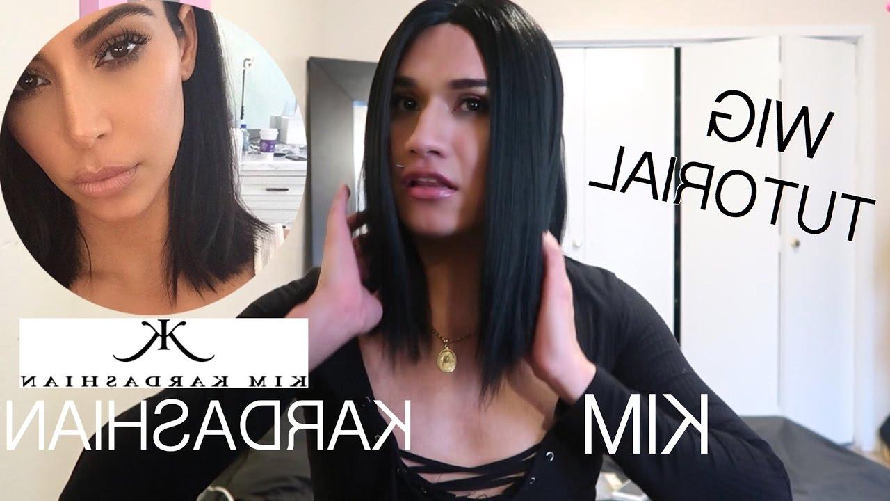 Kim Kardashian Short Hair Tutorial ( How To Style A Wig) – Youtube With Regard To Kim Kardashian Short Hairstyles (View 12 of 25)