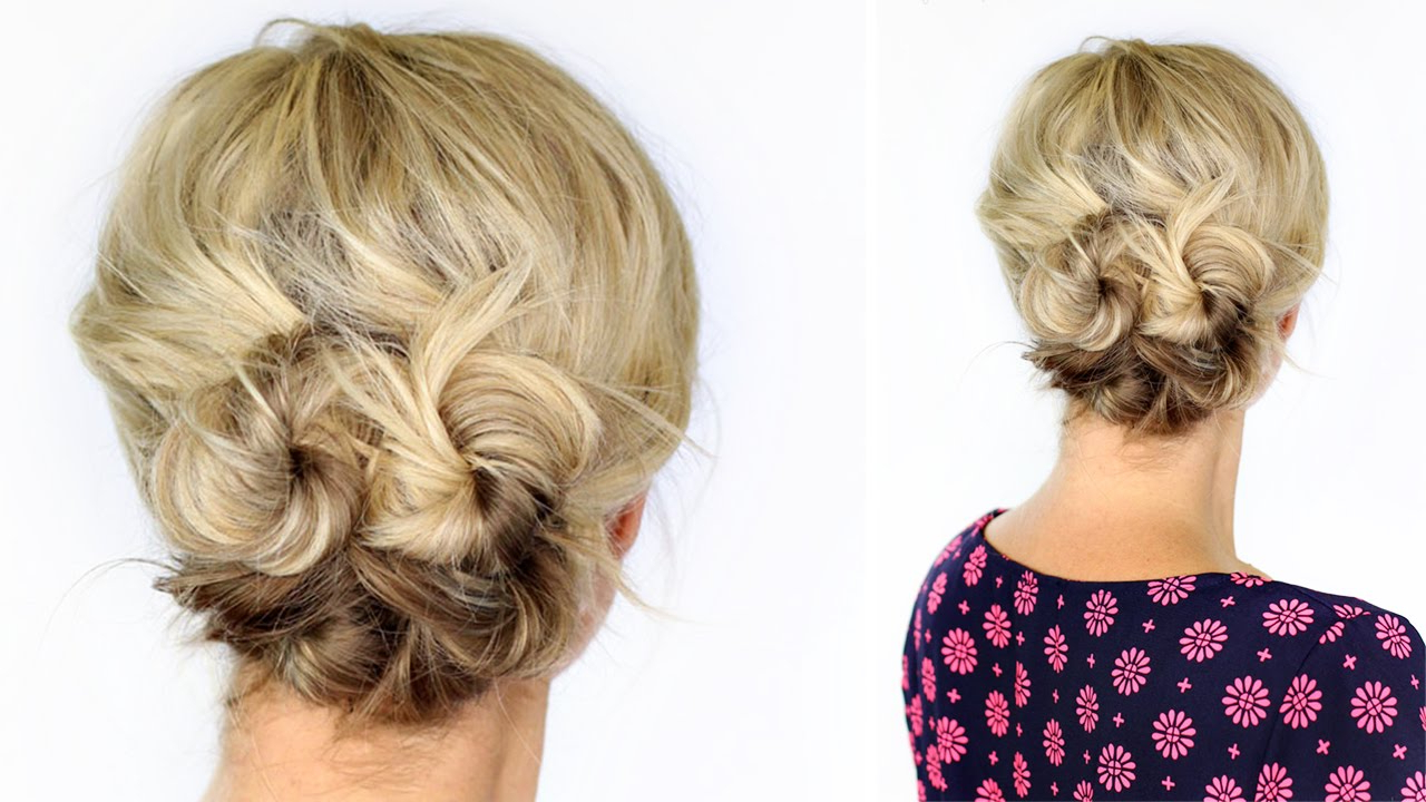 Knotted Updo For Short Hair – Youtube Regarding Cute Wedding Hairstyles For Short Hair (View 6 of 25)