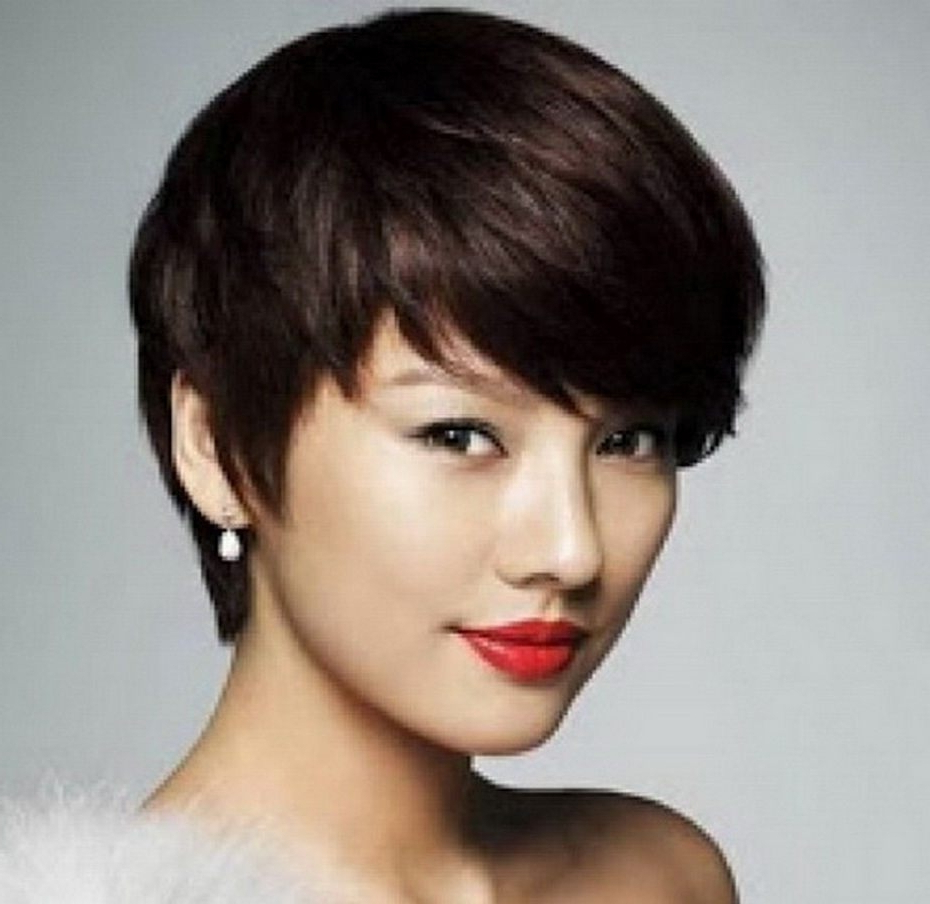 Korean Short Hairstyle For Round Face Inside Short Girl Haircuts For Round Faces (View 6 of 25)