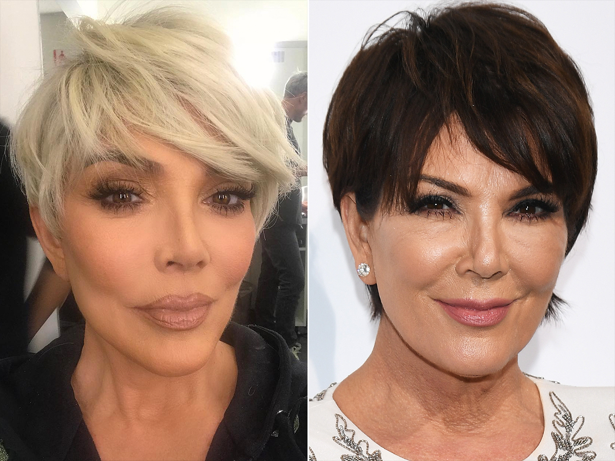 Kris Jenner Debuts New Blonde Pixie Cut To Welcome 2018   People With Kris Jenner Short Hairstyles (View 18 of 25)
