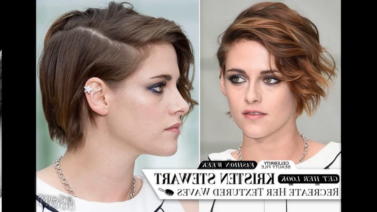 Kristen Stewart New Short Haircut – Youtube With Regard To Kristen Stewart Short Hairstyles (View 13 of 25)