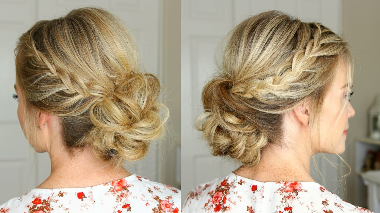 Lace Braid Homecoming Updo   Missy Sue – Youtube Pertaining To Homecoming Short Hair Styles (View 22 of 25)