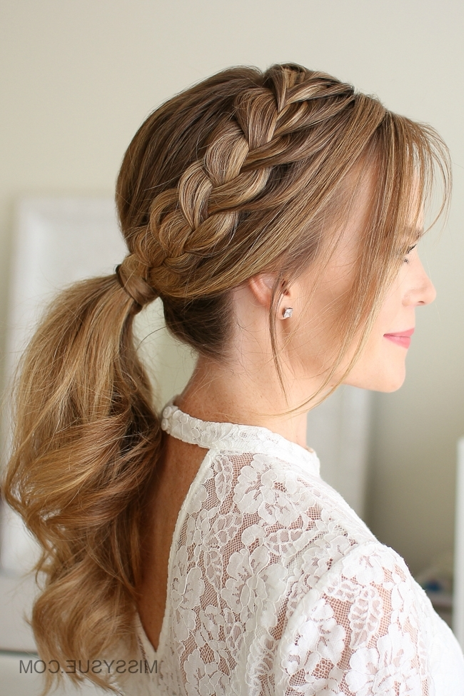 Lace Braid Ponytail | Missy Sue Pertaining To Diagonally Braided Ponytail Hairstyles (View 18 of 25)