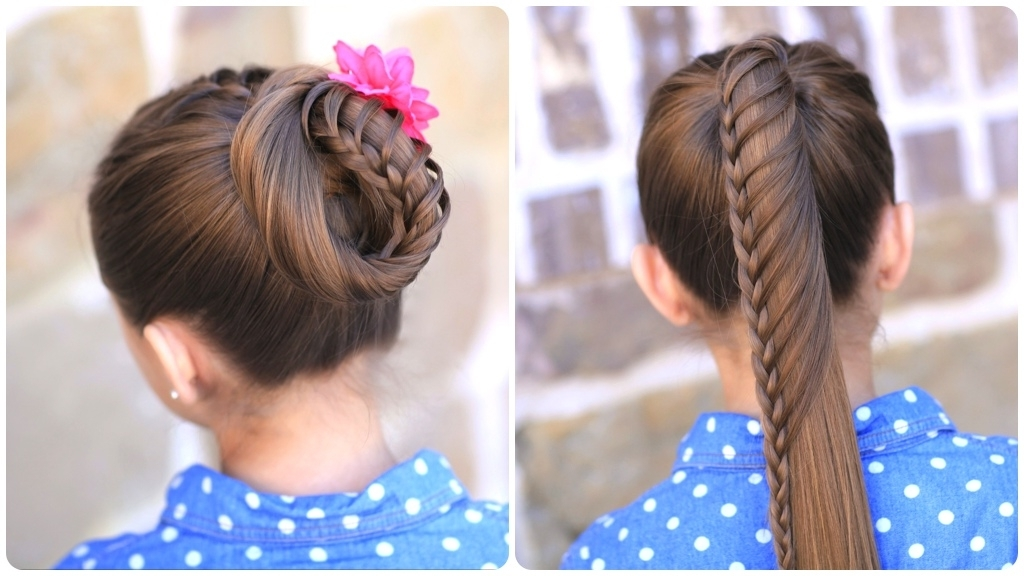 Lace Braided Ponytail And Updo | Cute Hairstyles | Cute Girls Hairstyles With Twin Braid Updo Ponytail Hairstyles (View 23 of 25)