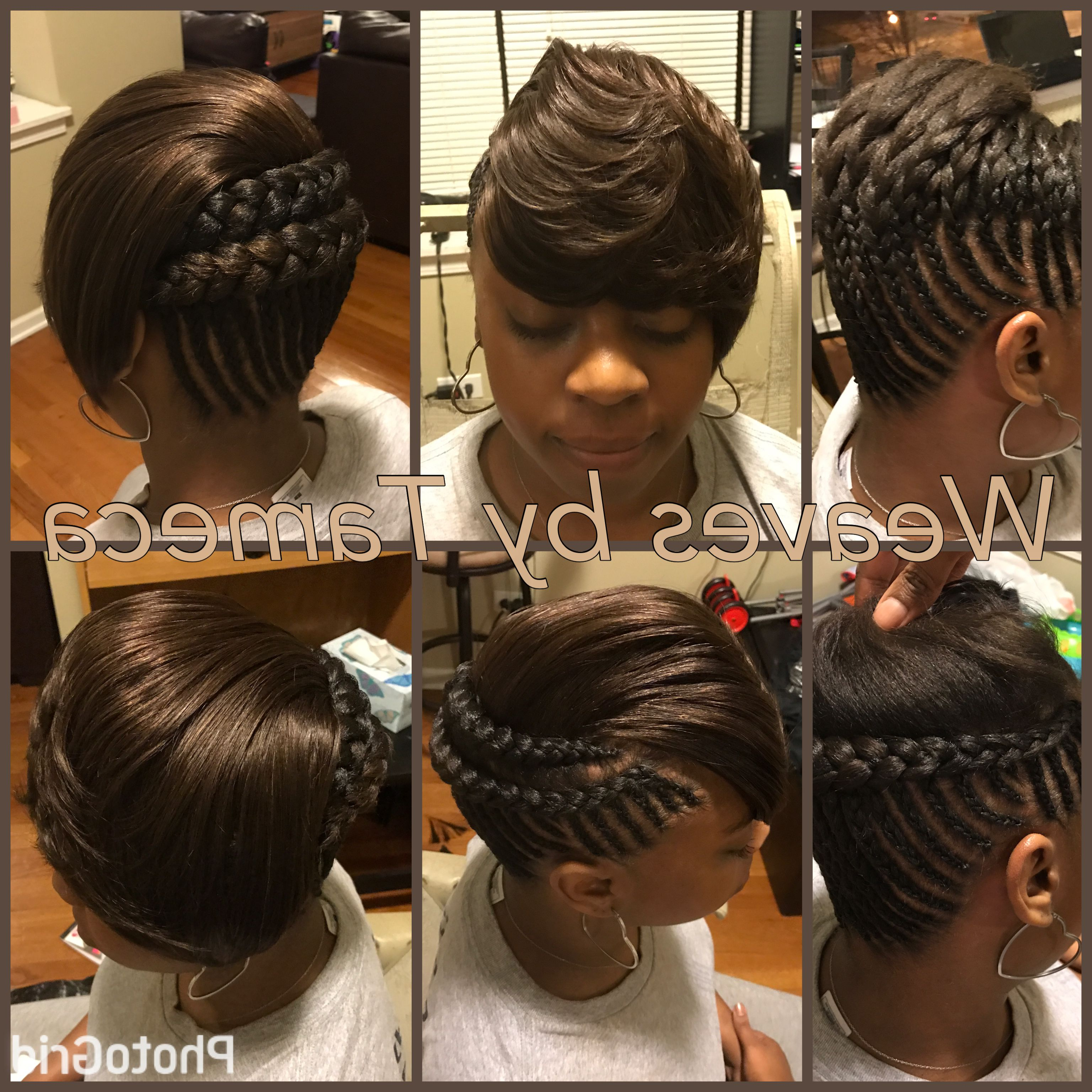 Latest Awesome Ghana Braids Hairstyles | Hair Hair Hair Throughout Short Hairstyles With Feathered Sides (View 4 of 25)