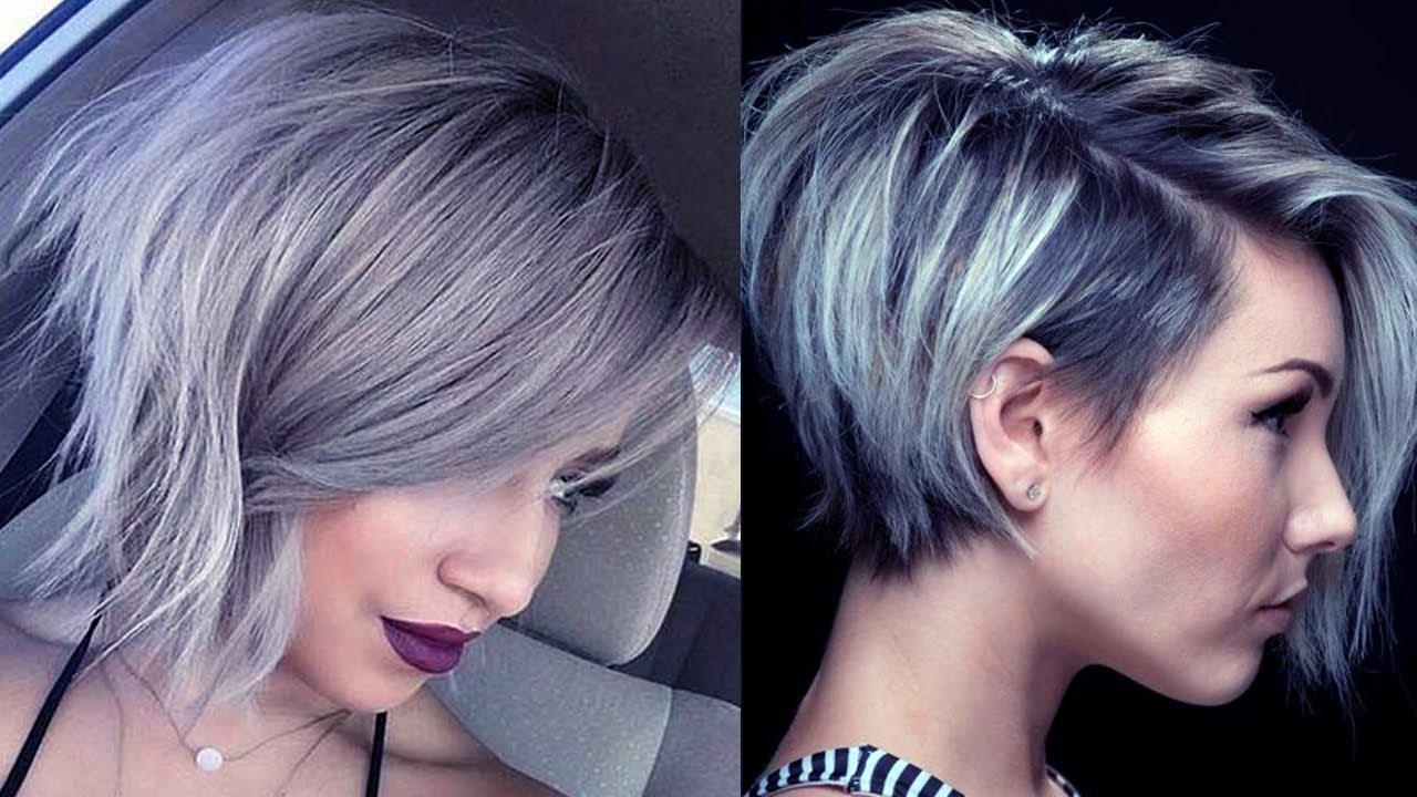 Latest Short Grey Hairstyles ? Short Grey Hair Pics!!! – Youtube Within Short Haircuts With Gray Hair (View 4 of 25)