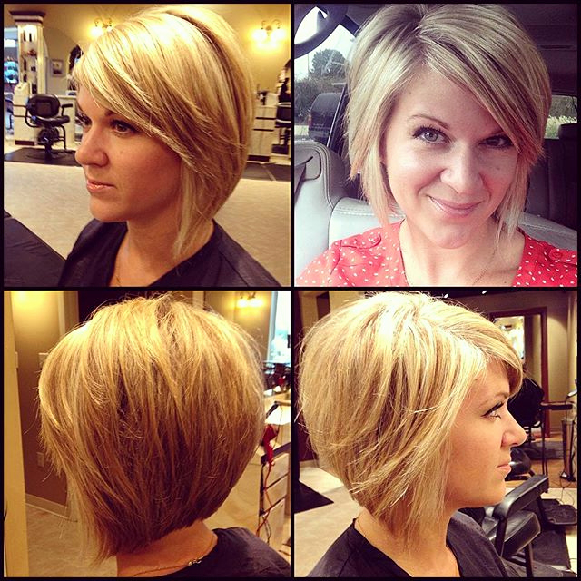 Layered Bob Hairstyles With Side Bangs Graduated Bob With Side Swept Throughout Layered Bob Hairstyles With Swoopy Side Bangs (View 23 of 25)