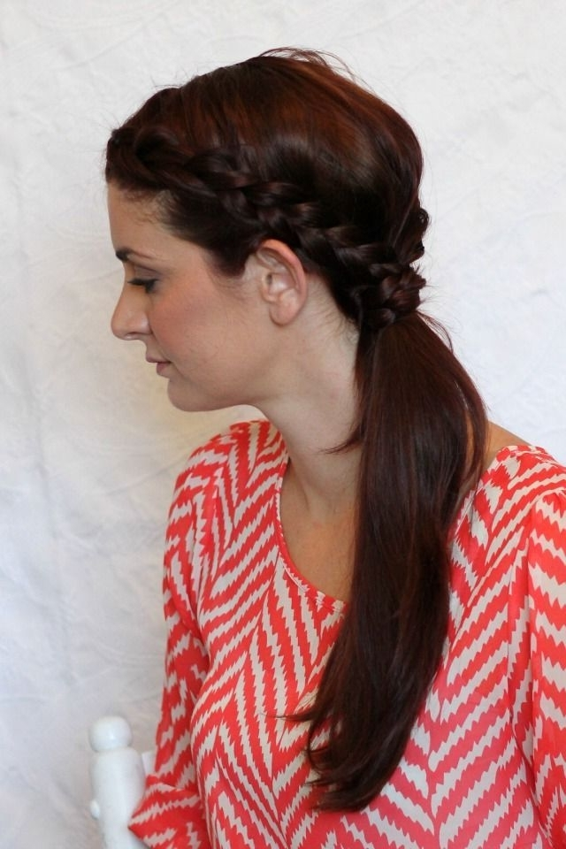 Layered Double Braid Ponytail | Fashion Trends 2017 | Pinterest Throughout Braided Glam Ponytail Hairstyles (View 23 of 25)