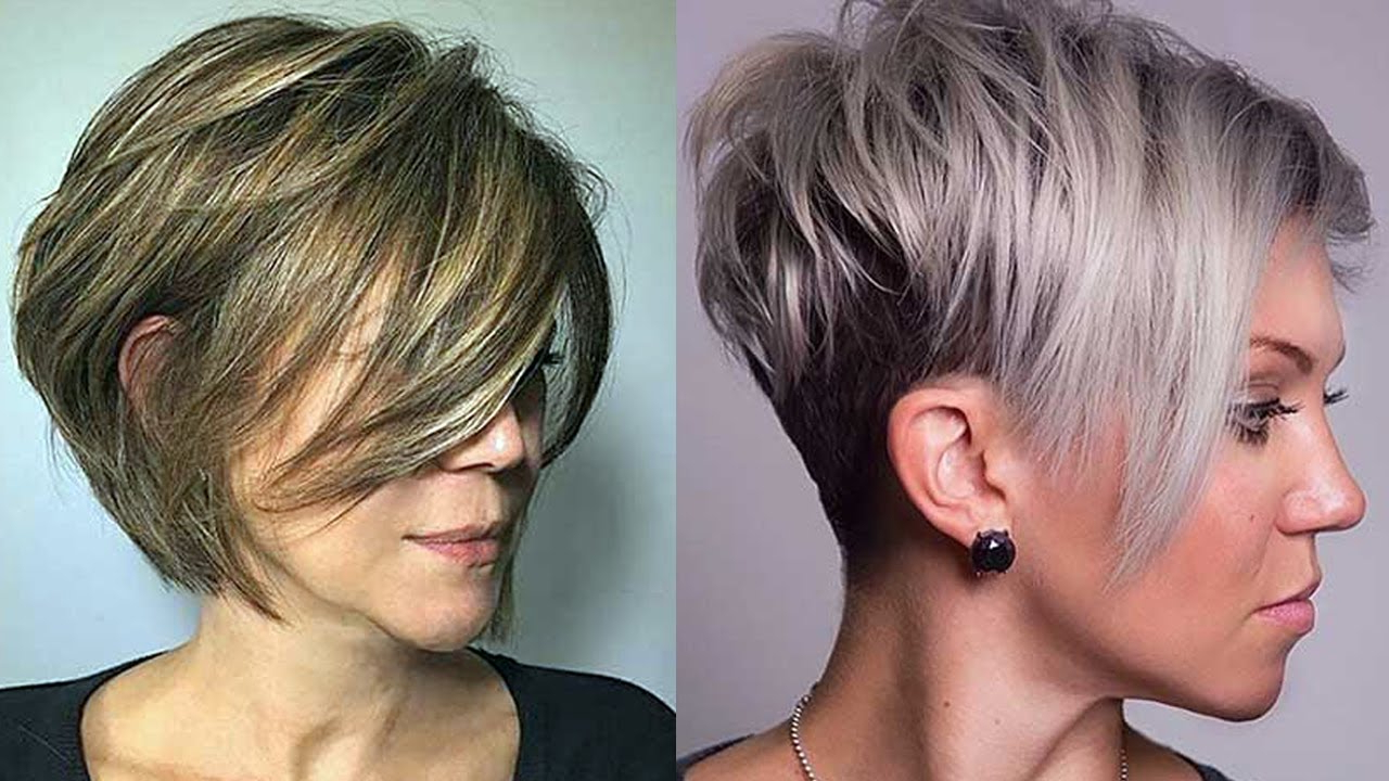 Layered Haircuts For Short Hair 2018 – Short Layered Hairstyles For Inside Short Haircuts With Bangs And Layers (View 17 of 25)