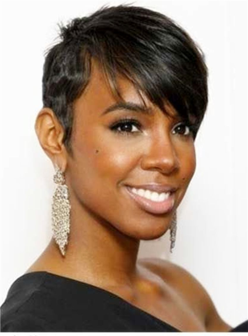 Layered Hairstyle Human Hair Short Capless African American Wigs 6 Throughout Black Short Layered Hairstyles (View 19 of 25)