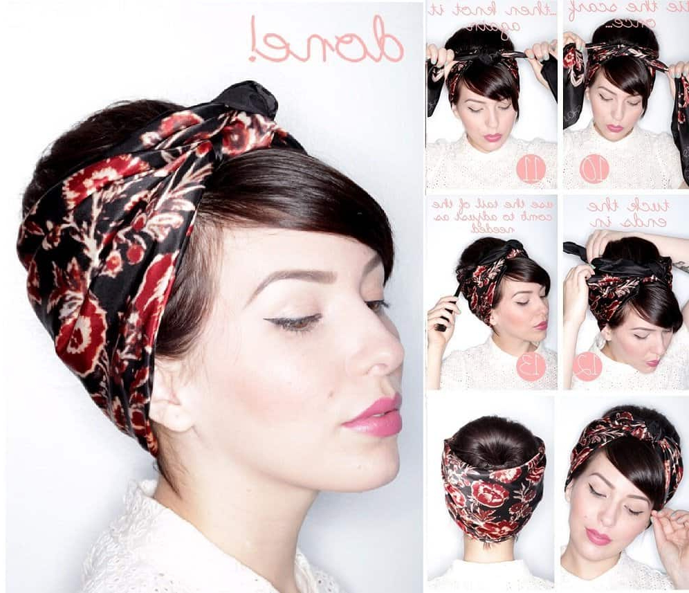 Learn 20 Cool Ways To Wear A Headscarf This Summer – Ritely For Short Haircuts With Headbands (View 13 of 25)