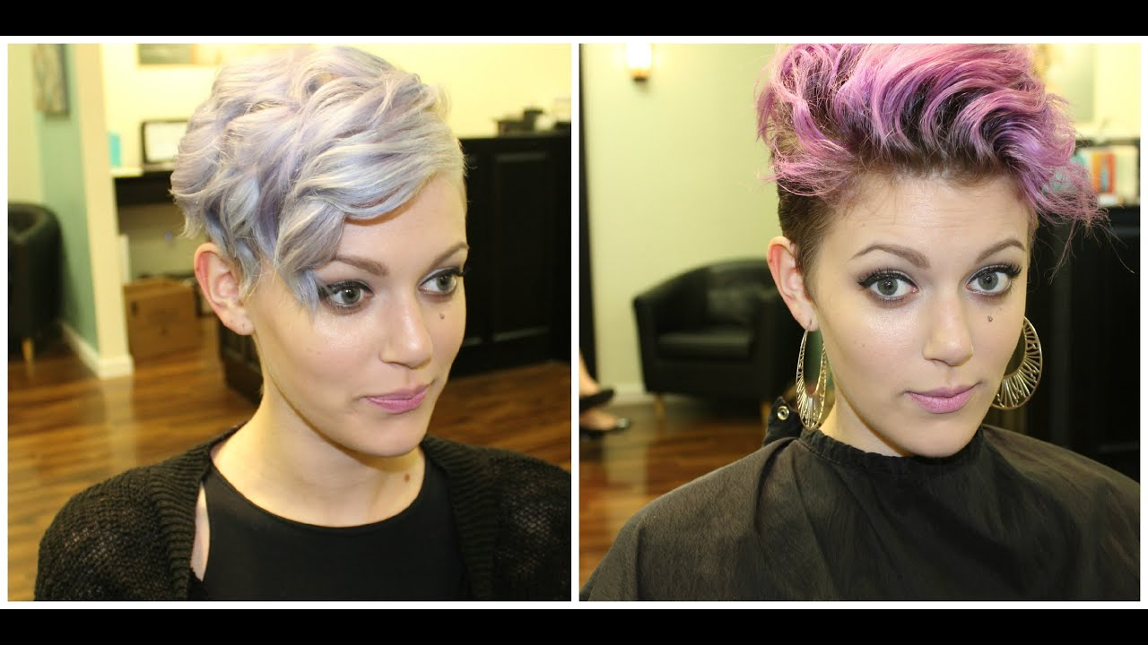 Lilac Hair Color Inspiredkelly Osborne – Youtube Intended For Kelly Osbourne Short Haircuts (View 11 of 25)
