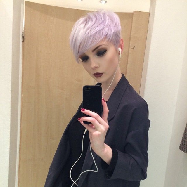 Lilac Pixie | Hair Love In 2018 | Pinterest | Hair, Short Hair Within Sexy Pastel Pixie Hairstyles (View 18 of 25)
