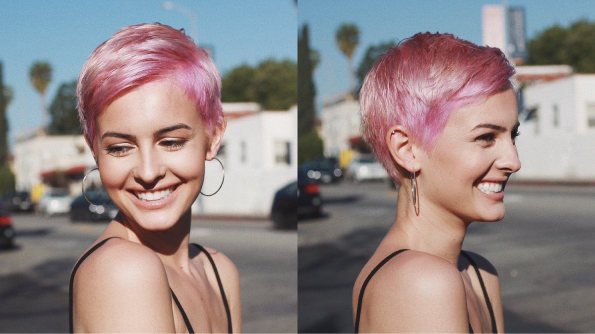 Lisa Cimorelli's Short Pink Hair | Cool Hair In 2018 | Pinterest Intended For Pink Short Haircuts (View 13 of 25)