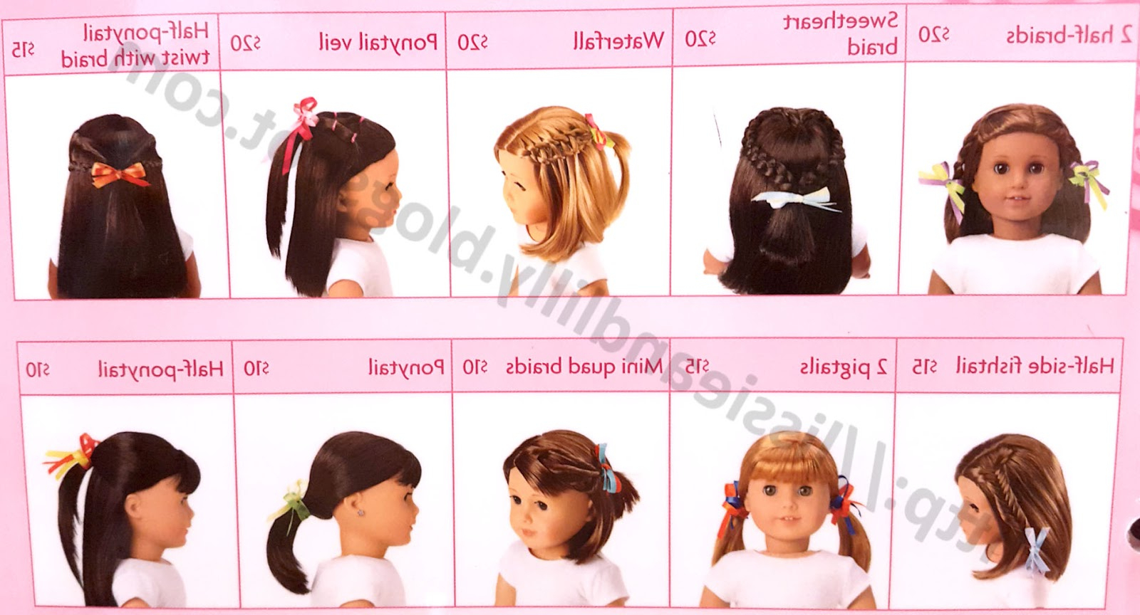 Lissie & Lilly: Ag Salon Hairstyles Inside Hairstyles For American Girl Dolls With Short Hair (View 6 of 25)