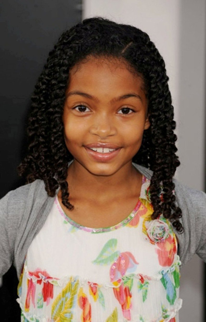 Little Black Girl Hairstyles   30 Stunning Kids Hairstyles Pertaining To Short Haircuts For Black Teenage Girls (View 22 of 25)