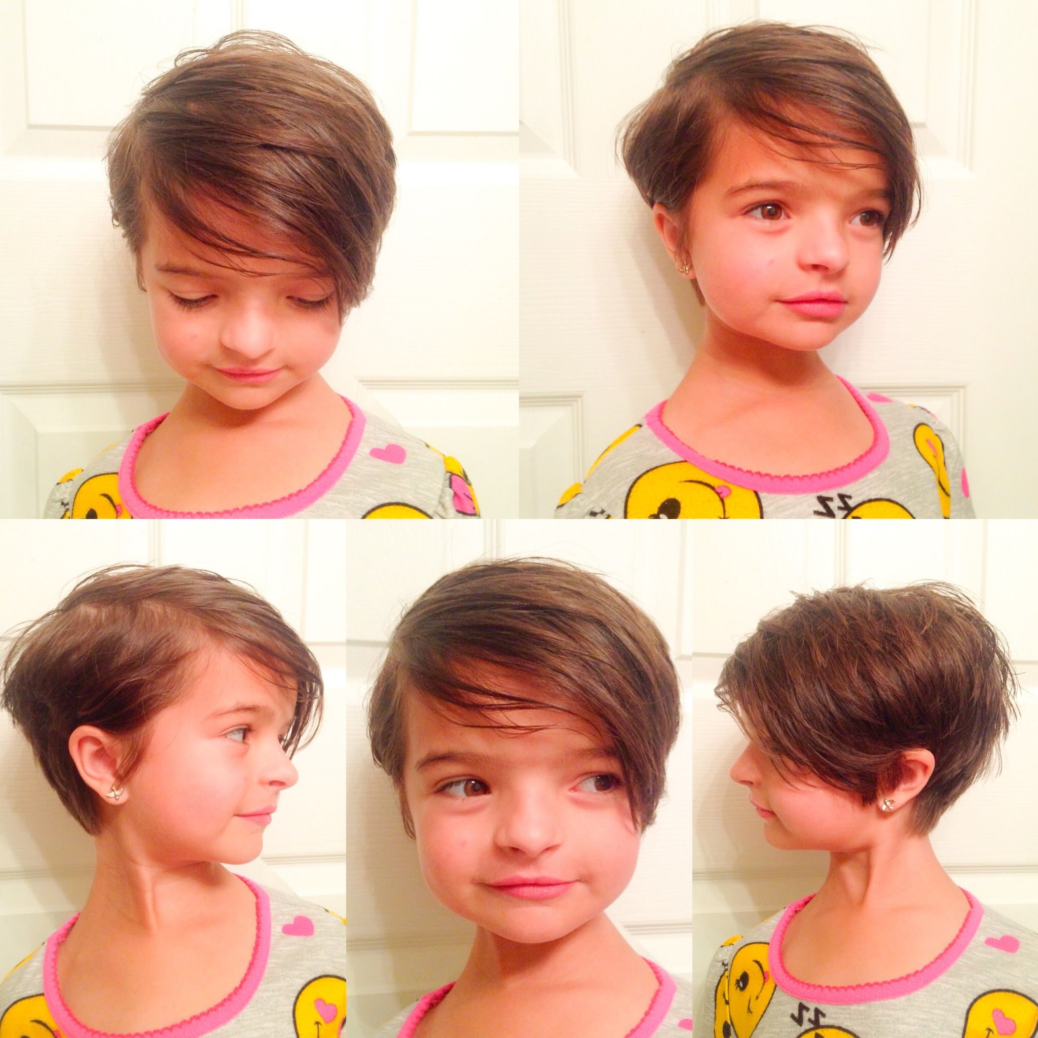 Little Girl's Haircut, Little Girl's Hairstyle, Pixie Cut, Short In Kids Short Haircuts With Bangs (View 7 of 25)