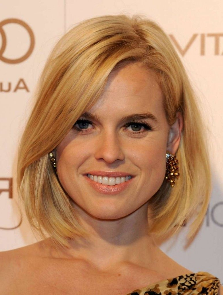 Long Bob Hairstyles Inspiredcelebrities | Hair/clothes/jewelry Throughout Short Hairstyles For Round Faces And Thin Fine Hair (View 14 of 25)