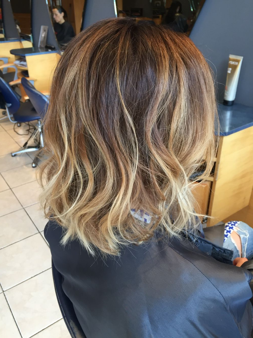 Long Bob With Ombré Colour Then Loosely Waved With The Ghd Wand Within Loosely Waved Messy Brunette Bob Hairstyles (View 3 of 25)