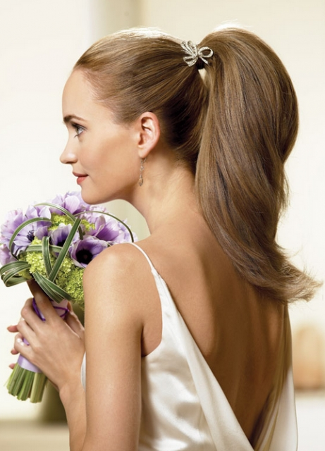 Long Hair Wedding Hairstyle With Simple Yet Elegant Ponytail Hairdo For Long Elegant Ponytail Hairstyles (View 19 of 25)