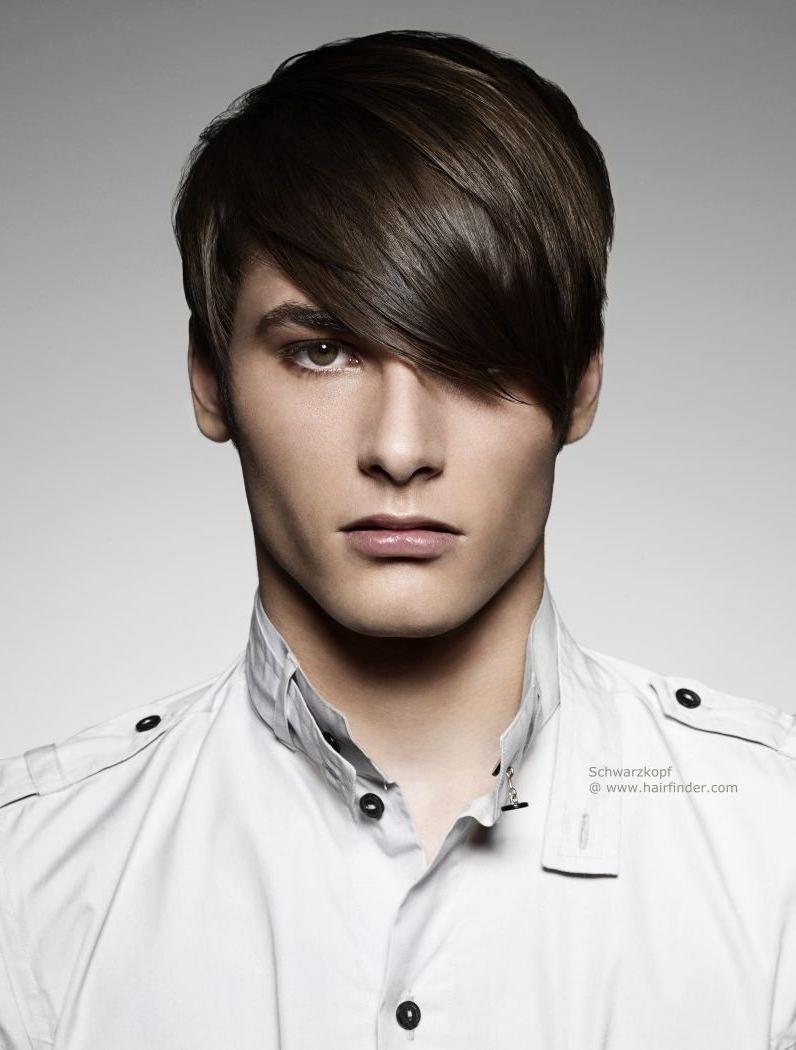Long Hairstyles With Bangs For Men Short Men's Haircut With Long With Regard To Short Haircuts With Longer Bangs (View 11 of 25)