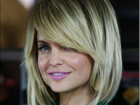 Long Layered Bob Hairstyles With Side Swept Bangs – Youtube Within Inverted Bob Hairstyles With Swoopy Layers (View 19 of 25)