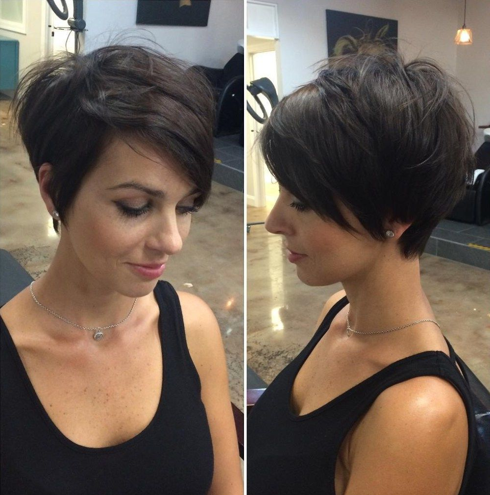 Long Pixie With Side Bangs   Hair   Pinterest   Long Pixie, Side In Short Haircuts With Long Side Bangs (View 18 of 25)