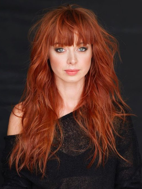 Long Shag Haircuts: 33 Examples For 2018 For Short Red Haircuts With Wispy Layers (View 22 of 25)
