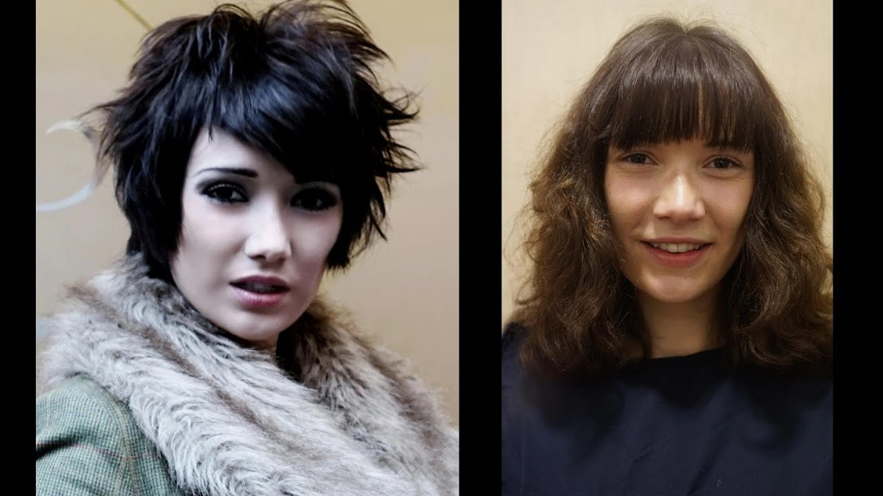 Long To Short Haircut Makeovers ? Tutorial On How To Cut Hair In With Regard To Very Short Haircuts With Long Bangs (View 17 of 25)