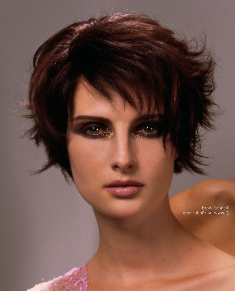 Longer Pixie Cut With Razor Cut Layering   Mahogany Hair Color Within Auburn Short Hairstyles (View 4 of 25)