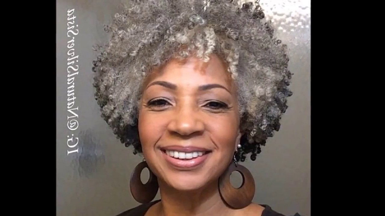 Look Beautiful Of 86 Natural Gray Hairstyles For Black Women, Try Throughout Short Hairstyles For Black Women With Gray Hair (View 8 of 25)