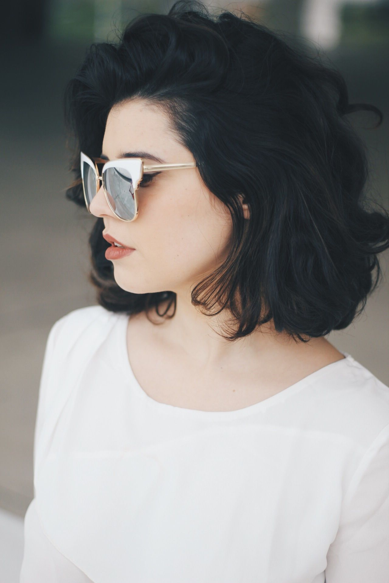 Look Dafiti   Beautyphile Style   Pinterest   Hair, Short Hair Intended For Short Black Hairstyles With Tousled Curls (View 8 of 25)
