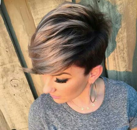 Looking For A New Hairstyle Women | Pixie Hairstyles Funky Regarding Long Blonde Pixie Haircuts With Root Fade (View 6 of 25)