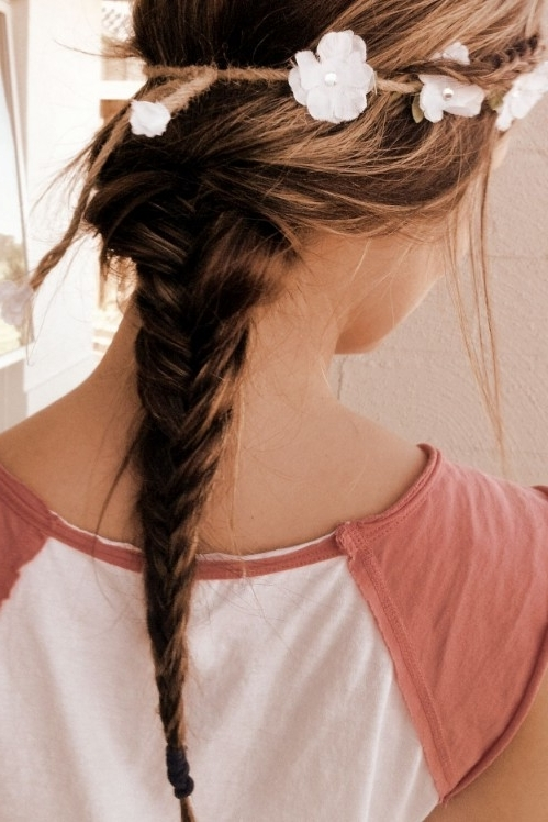 Loose Ponytail: Romantic 2 Strand Braid Hairstyle For Girls Within Romantic Ponytail Hairstyles (View 12 of 25)
