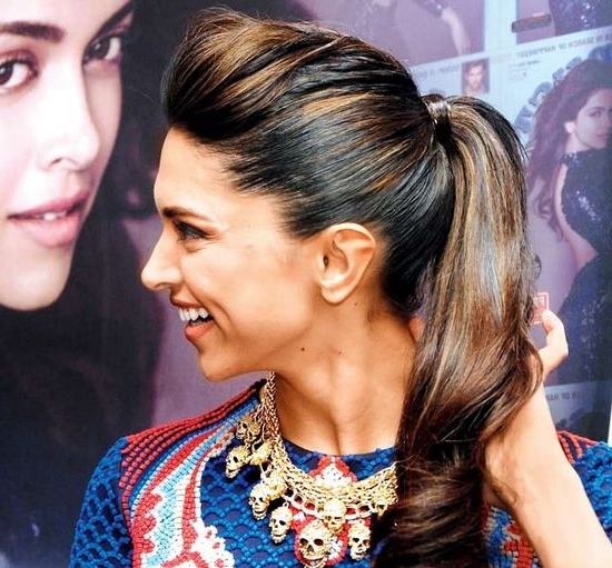 Love Deepika Padukone Hairstyles? Then Check This Blog – Let Us Publish With Regard To Sleek Ladylike Ponytail Hairstyles (View 25 of 25)