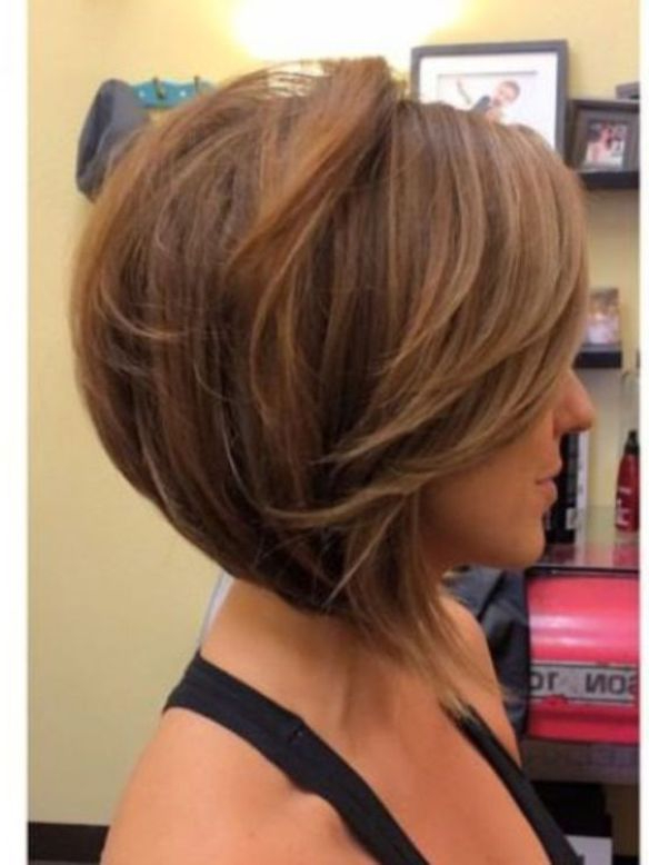 Love How There Are Angled Bangs, But No Drastic Layers Throughout With Regard To Angled Burgundy Bob Hairstyles With Voluminous Layers (View 2 of 25)