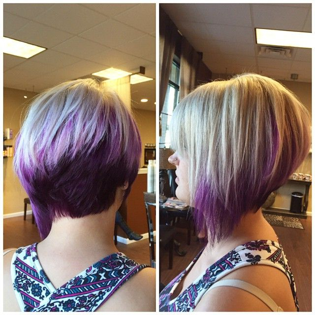 Featured Photo of Extreme Angled Bob Haircuts With Pink Peek A Boos