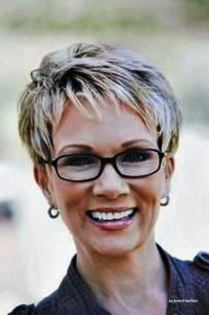 Lovely Short Hairstyles For Over 60 Years Old With Glasses With Short Haircuts With Bangs And Glasses (View 24 of 25)