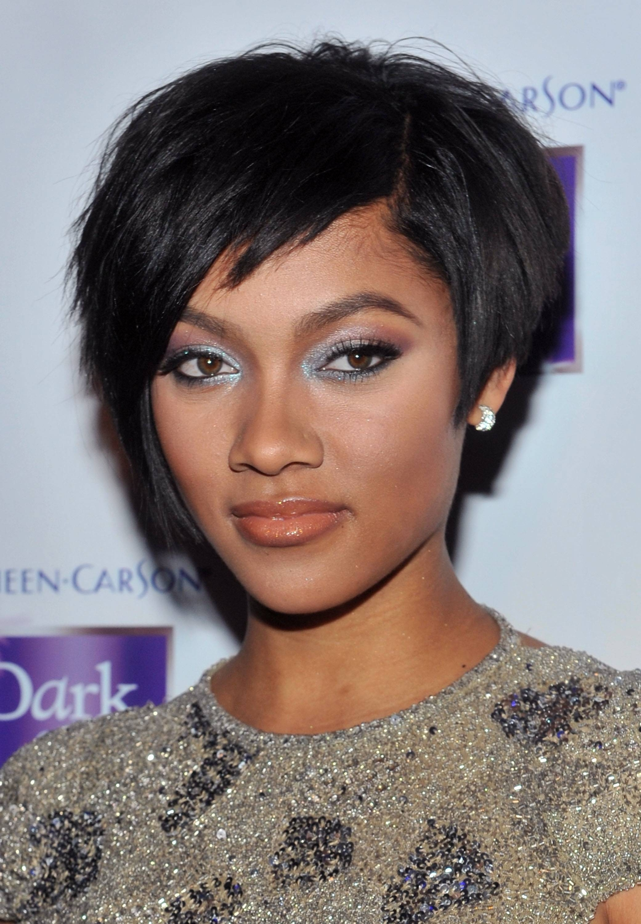Lummy Short Hairstyles As Wells As Round Faces Together With Short Within Short Haircuts For African American Women With Round Faces (View 15 of 25)