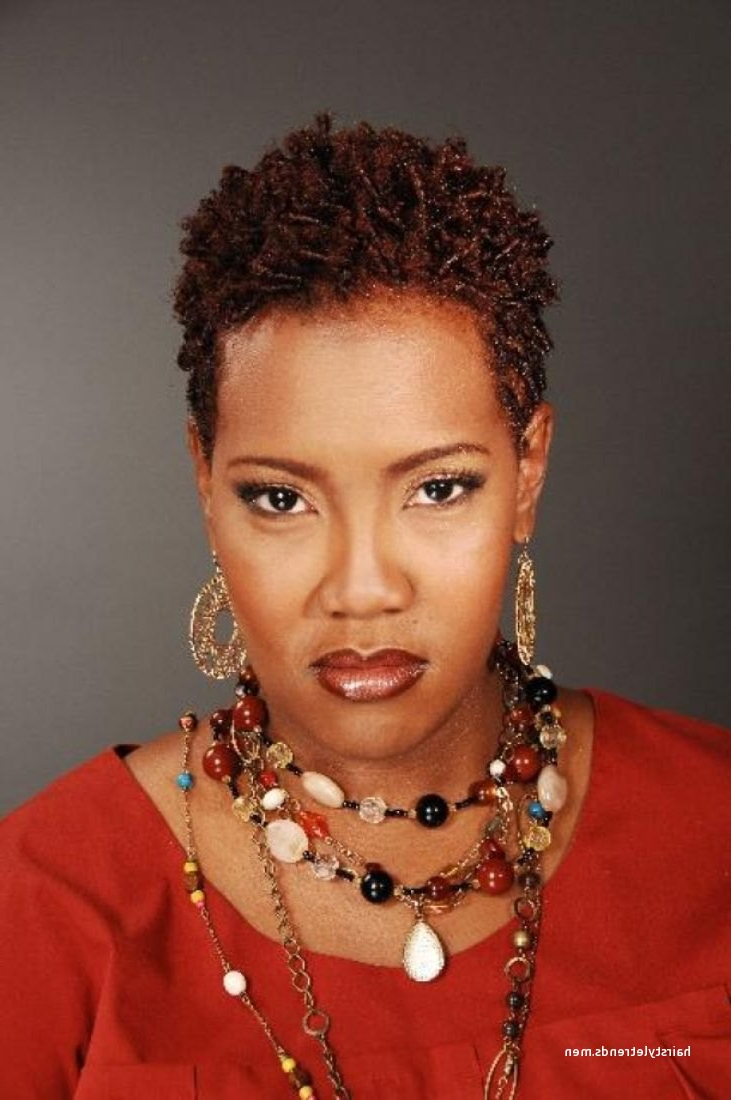 Luxury Short Natural Hairstyles For Black Women With Round Faces In Short Haircuts For African American Women With Round Faces (View 24 of 25)