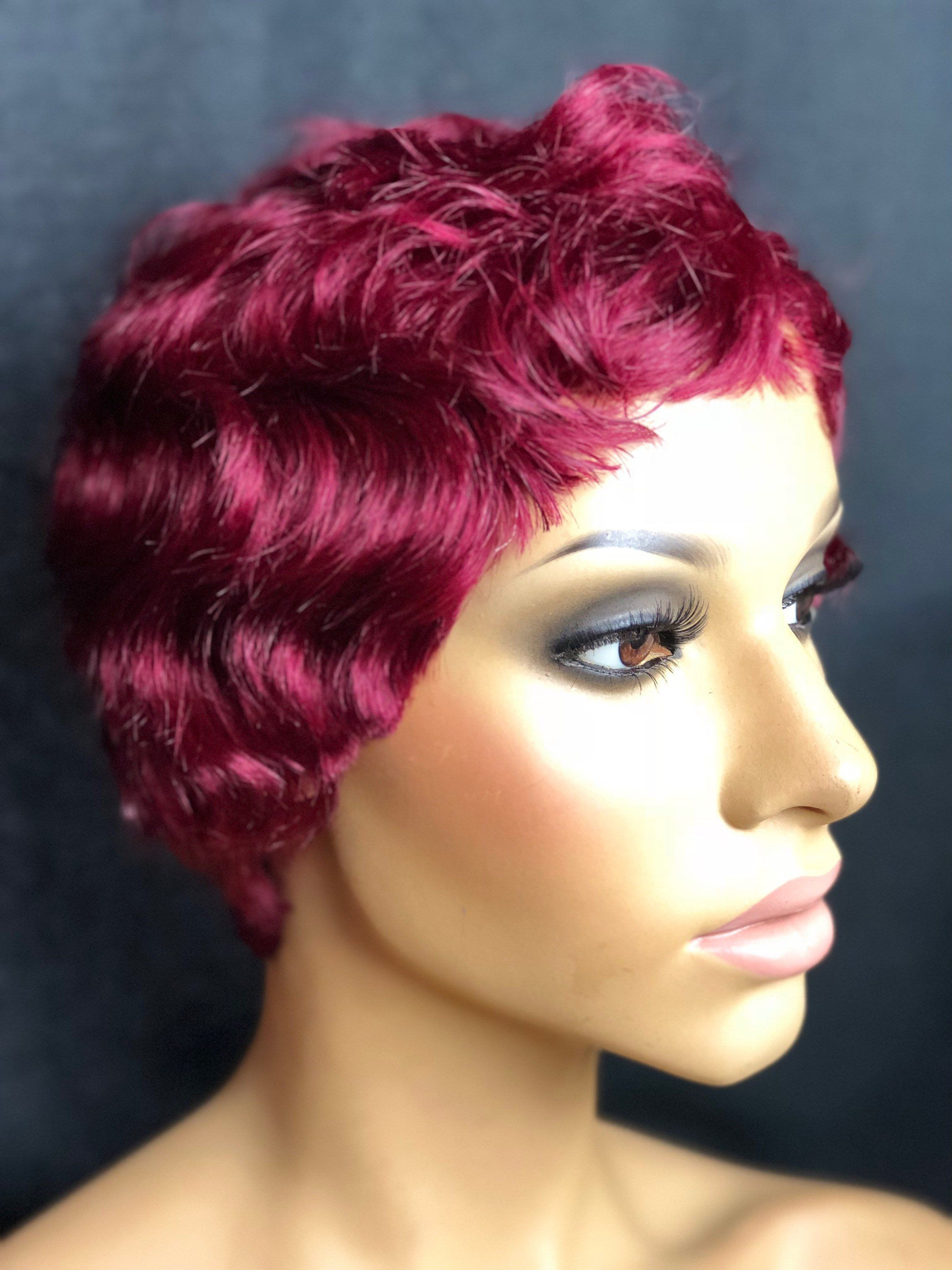 Magenta Red Short Pixie Haircut Wig | My Hairstyles Collections In Red Short Hairstyles (View 16 of 25)